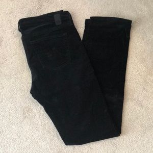 Barely Worn AG Black Corduroys